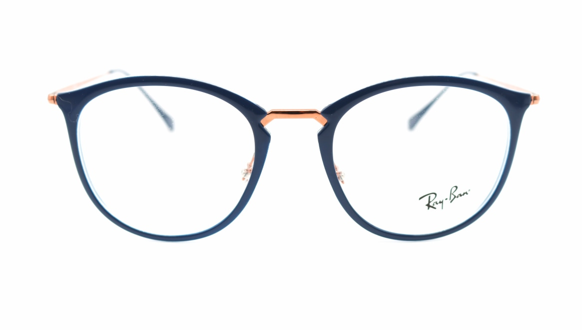 レイバン RX7140F-5853-51 [丸メガネ/青]