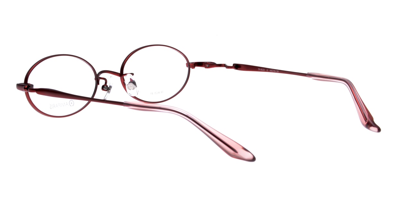 アミパリ TR-8620-6-49 [メタル/鯖江産/オーバル/赤]  3