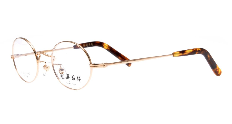 昇治郎 SJ-6007-GP-44 [メタル/鯖江産/丸メガネ/ゴールド]  1