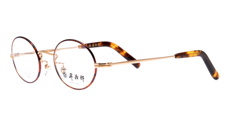 昇治郎 SJ-6007-GPD-44 [メタル/鯖江産/丸メガネ/べっ甲柄]  1