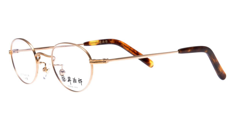 昇治郎 SJ-6010-GP-44 [メタル/鯖江産/丸メガネ/ゴールド]  1