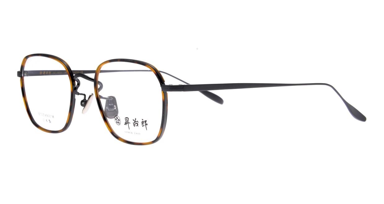 昇治郎 SJ-6016-IPBK-48 [メタル/鯖江産/ウェリントン/べっ甲柄]  1