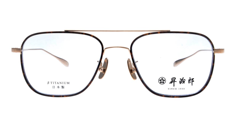 昇治郎 SJ-6017-GP-54 [メタル/鯖江産/ウェリントン/べっ甲柄]