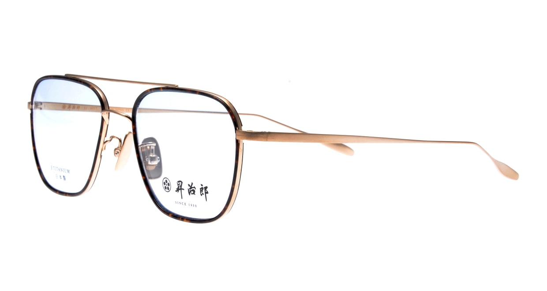昇治郎 SJ-6017-GP-54 [メタル/鯖江産/ウェリントン/べっ甲柄]  1
