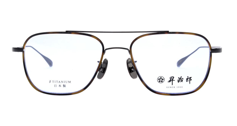 昇治郎 SJ-6017-IPBK-54 [メタル/鯖江産/ウェリントン/茶色]
