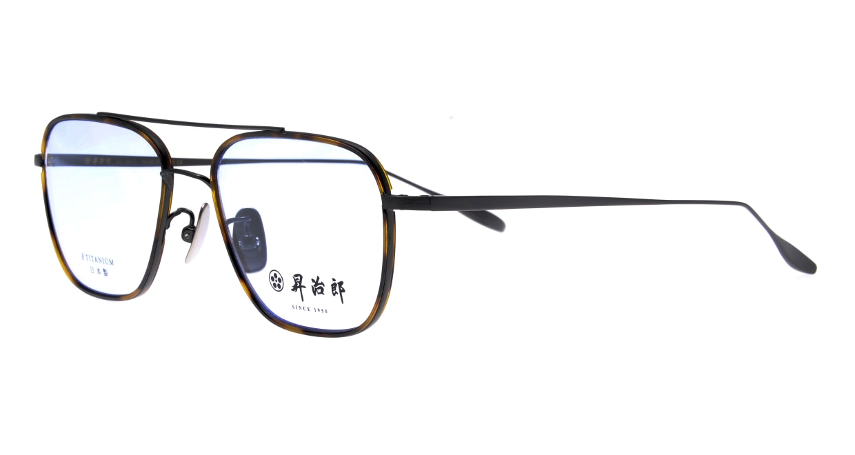 昇治郎 SJ-6017-IPBK-54 [メタル/鯖江産/ウェリントン/茶色]  1