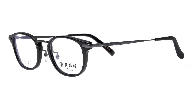 昇治郎 SJ-6104-BK -48 [黒縁/鯖江産/ウェリントン]  1