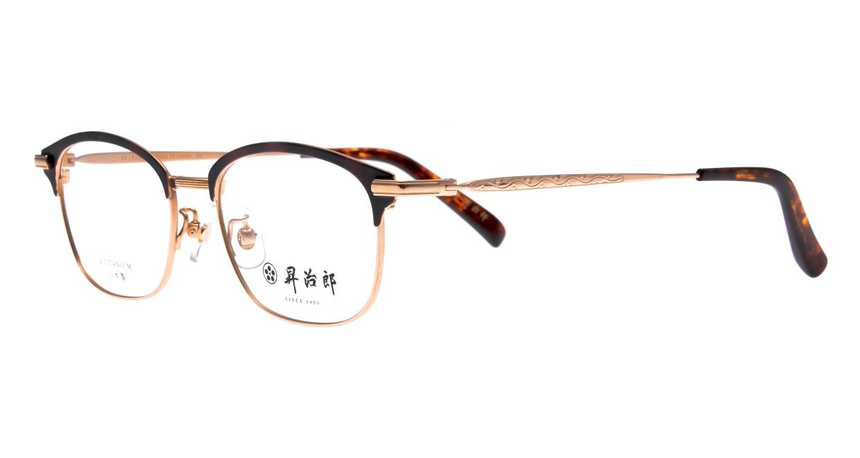 昇治郎 SJ-6106-G/DM-51 [メタル/鯖江産/ウェリントン/茶色]  1