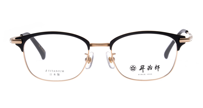 昇治郎SJ-6106-G/BK-51 [メタル/鯖江産/ウェリントン]