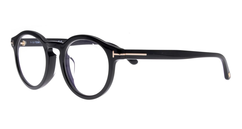 トムフォード FT5529FB ASIANFIT-BLUEBLOCK.F-001-50 [黒縁/丸メガネ]  1