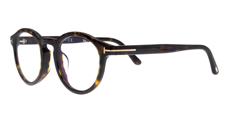 トムフォード FT5529FB AsianFit BLUE BLOCK FILTER-052-50 [丸メガネ/べっ甲柄]  1