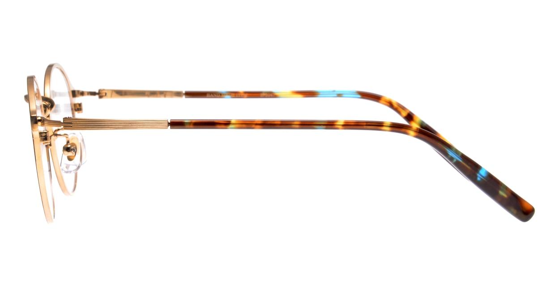 ハンドメイドアイテム H-3047-8-46 [メタル/鯖江産/丸メガネ/べっ甲柄]  2