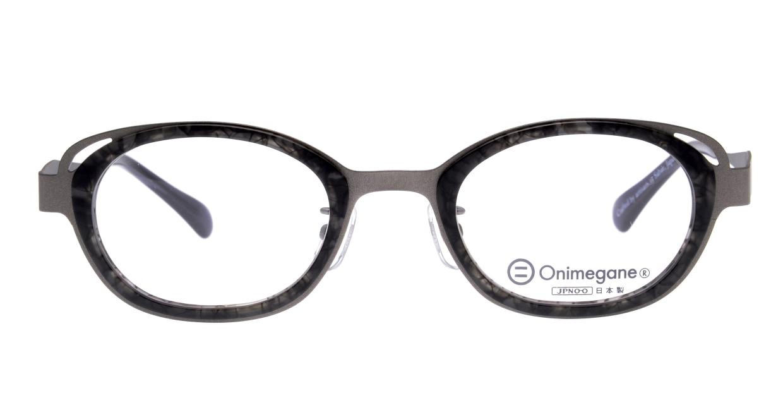 オニメガネ OG7223-GY-46 [鯖江産/ウェリントン/グレー]