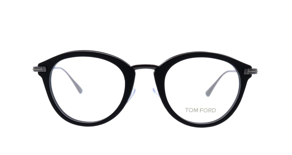トムフォード FT5497-002-48 [黒縁/丸メガネ]