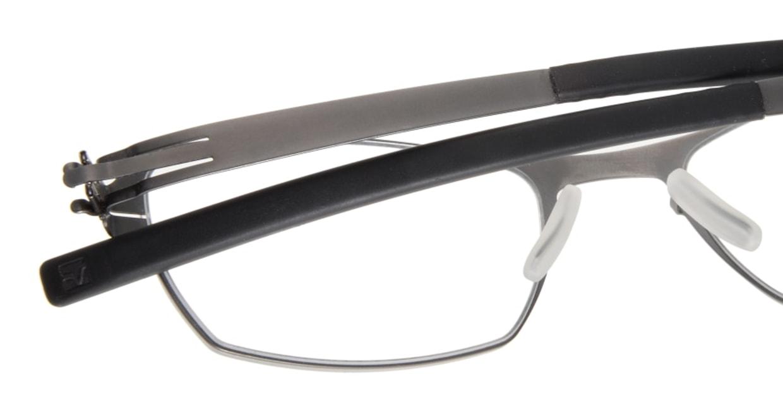 アイシーベルリン auf dem flusse (flex)-graphite-rx clear [メタル/ウェリントン/グレー]  4