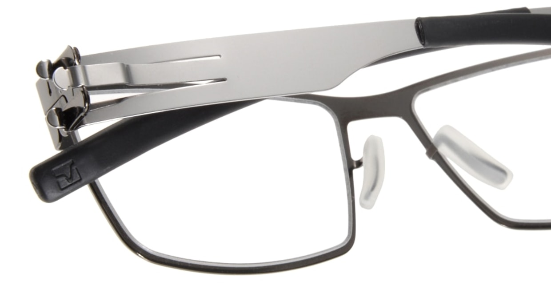 アイシーベルリン Peter C. (flex)-gun metal-chrome-clear [メタル/ウェリントン/グレー]  4