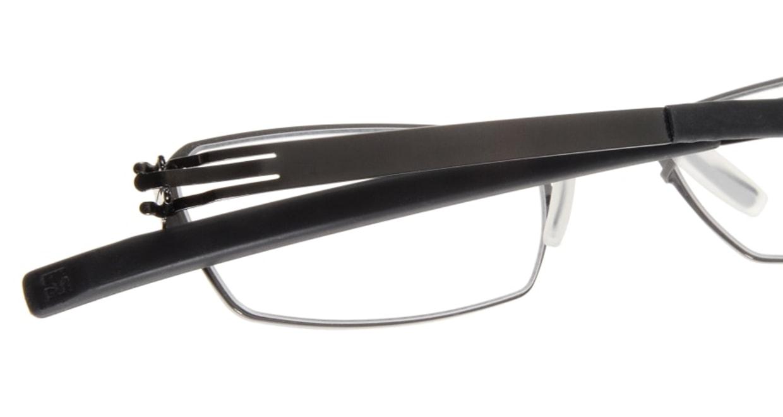 アイシーベルリン solal (flex)-gun metal-rx clear [メタル/スクエア/グレー]  4
