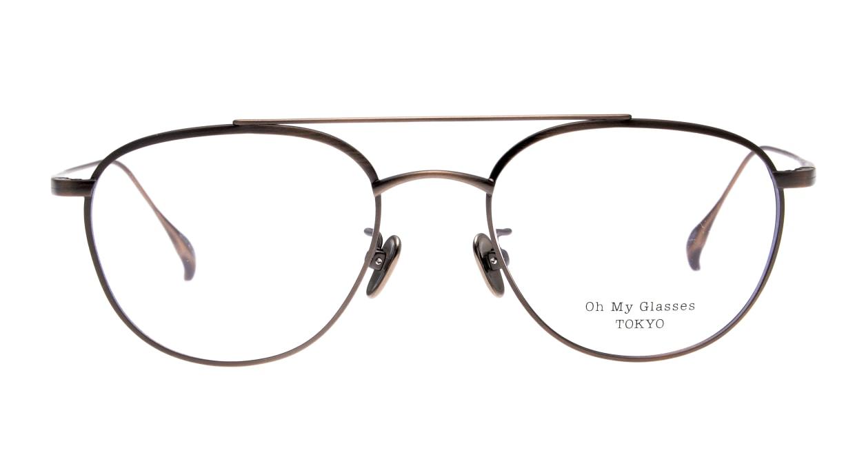 Oh My Glasses TOKYO Herbie omg-123-ATBR-50 [メタル/鯖江産/ティアドロップ/茶色]