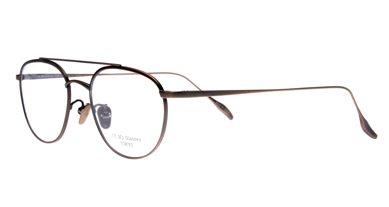 Oh My Glasses TOKYO Herbie omg-123-ATBR-50 [メタル/鯖江産/ティアドロップ/茶色]  1