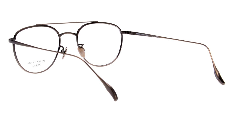 Oh My Glasses TOKYO Herbie omg-123-ATBR-50 [メタル/鯖江産/ティアドロップ/茶色]  3