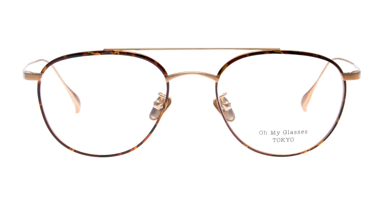 Oh My Glasses TOKYO Herbie-omg-123ーDMー50 [メタル/鯖江産/ティアドロップ/べっ甲柄]