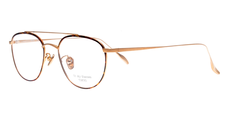 Oh My Glasses TOKYO Herbie-omg-123ーDMー50 [メタル/鯖江産/ティアドロップ/べっ甲柄]  1