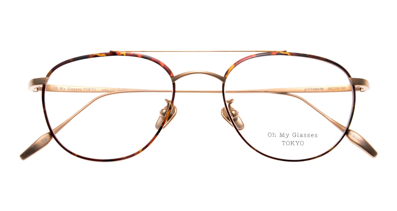 Oh My Glasses TOKYOomg-123-DM-50-herbie [メタル/鯖江産/ティアドロップ/べっ甲柄]  4