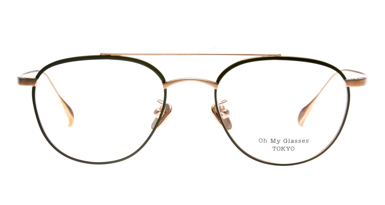Oh My Glasses TOKYO Herbie-omg-123ーGRー50 [メタル/鯖江産/ティアドロップ/緑]
