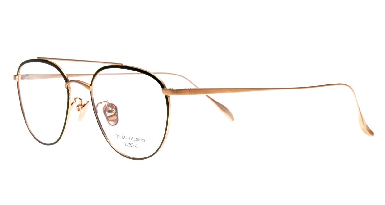 Oh My Glasses TOKYO Herbie-omg-123ーGRー50 [メタル/鯖江産/ティアドロップ/緑]  1