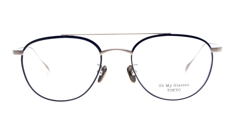 Oh My Glasses TOKYO Herbie-omg-123ーNVー50 [メタル/鯖江産/ティアドロップ/青]