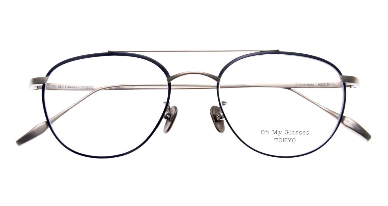 Oh My Glasses TOKYO Herbie-omg-123ーNVー50 [メタル/鯖江産/ティアドロップ/青]  4