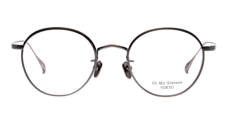 Oh My Glasses TOKYO Wayne-omg-124ーATSー47 [メタル/鯖江産/丸メガネ/シルバー]