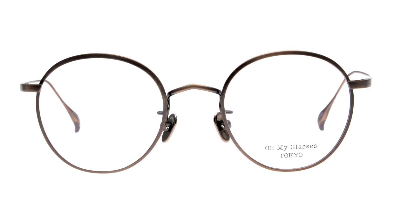 Oh My Glasses TOKYO Wayne omg-124-ATBR-47 [メタル/鯖江産/丸メガネ/茶色]