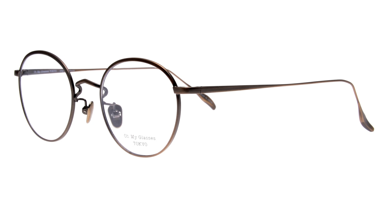 Oh My Glasses TOKYO Wayne omg-124-ATBR-47 [メタル/鯖江産/丸メガネ/茶色]  1