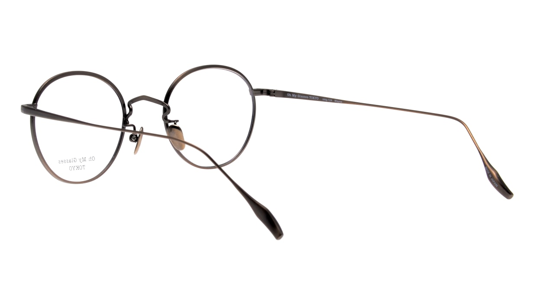 Oh My Glasses TOKYO Wayne omg-124-ATBR-47 [メタル/鯖江産/丸メガネ/茶色]  3