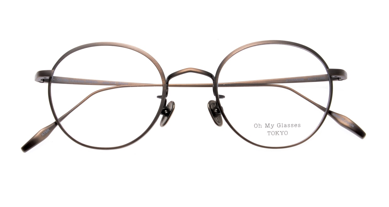 Oh My Glasses TOKYO Wayne omg-124-ATBR-47 [メタル/鯖江産/丸メガネ/茶色]  4