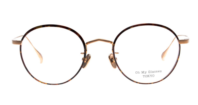 Oh My Glasses TOKYO Wayne omg-124-DM-47 [メタル/鯖江産/丸メガネ/べっ甲柄]