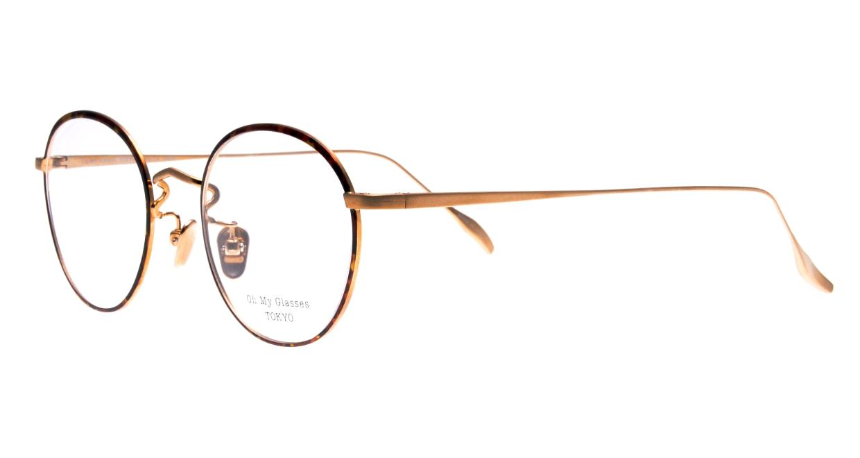 Oh My Glasses TOKYO Wayne omg-124-DM-47 [メタル/鯖江産/丸メガネ/べっ甲柄]  1