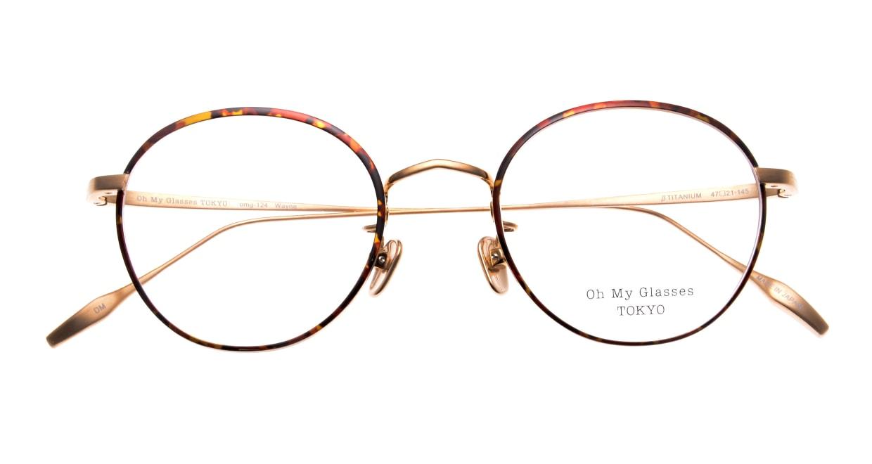 Oh My Glasses TOKYO Wayne omg-124-DM-47 [メタル/鯖江産/丸メガネ/べっ甲柄]  4