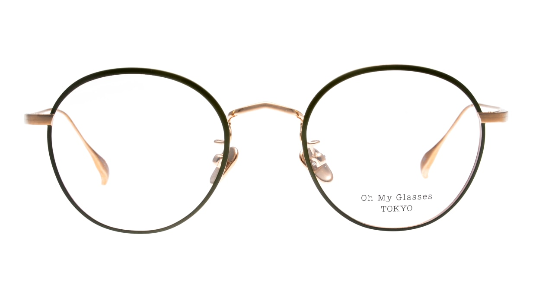 Oh My Glasses TOKYO Wayne-omg-124ーGRー47 [メタル/鯖江産/丸メガネ/緑]