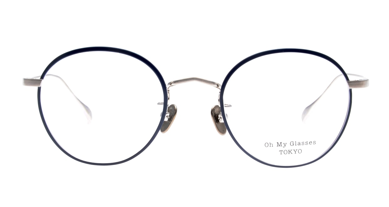 Oh My Glasses TOKYO Wayne omg-124-NV-47 [メタル/鯖江産/丸メガネ/青]