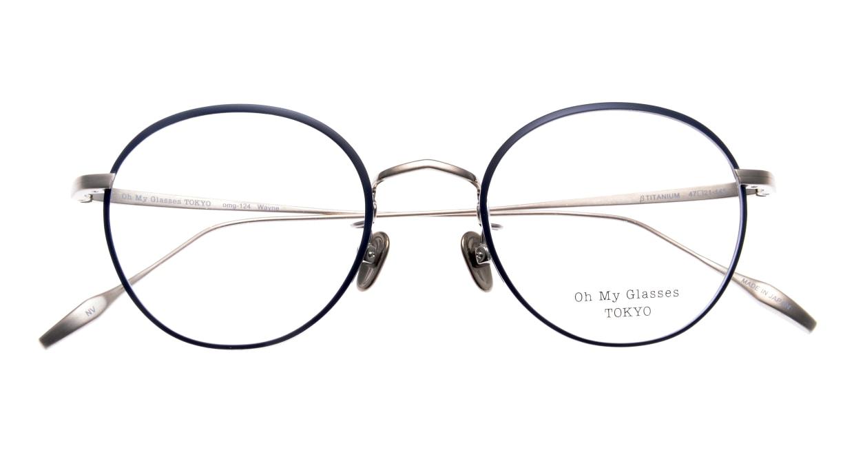 Oh My Glasses TOKYO Wayne omg-124-NV-47 [メタル/鯖江産/丸メガネ/青]  4
