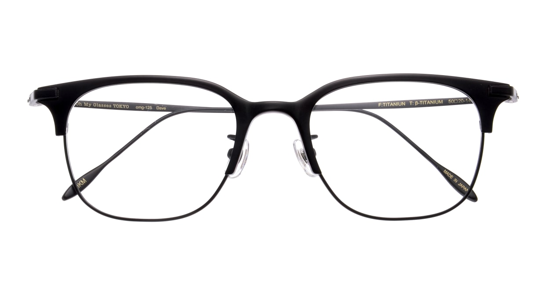 Oh My Glasses TOKYO Dave omg-125-BKM-50 [メタル/鯖江産/ウェリントン]  3