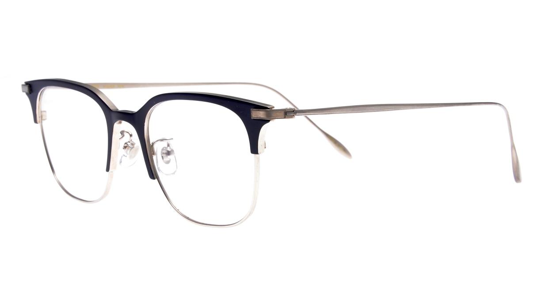 Oh My Glasses TOKYO Dave omg-125-NV-SV-50 [メタル/鯖江産/ウェリントン/青]  1