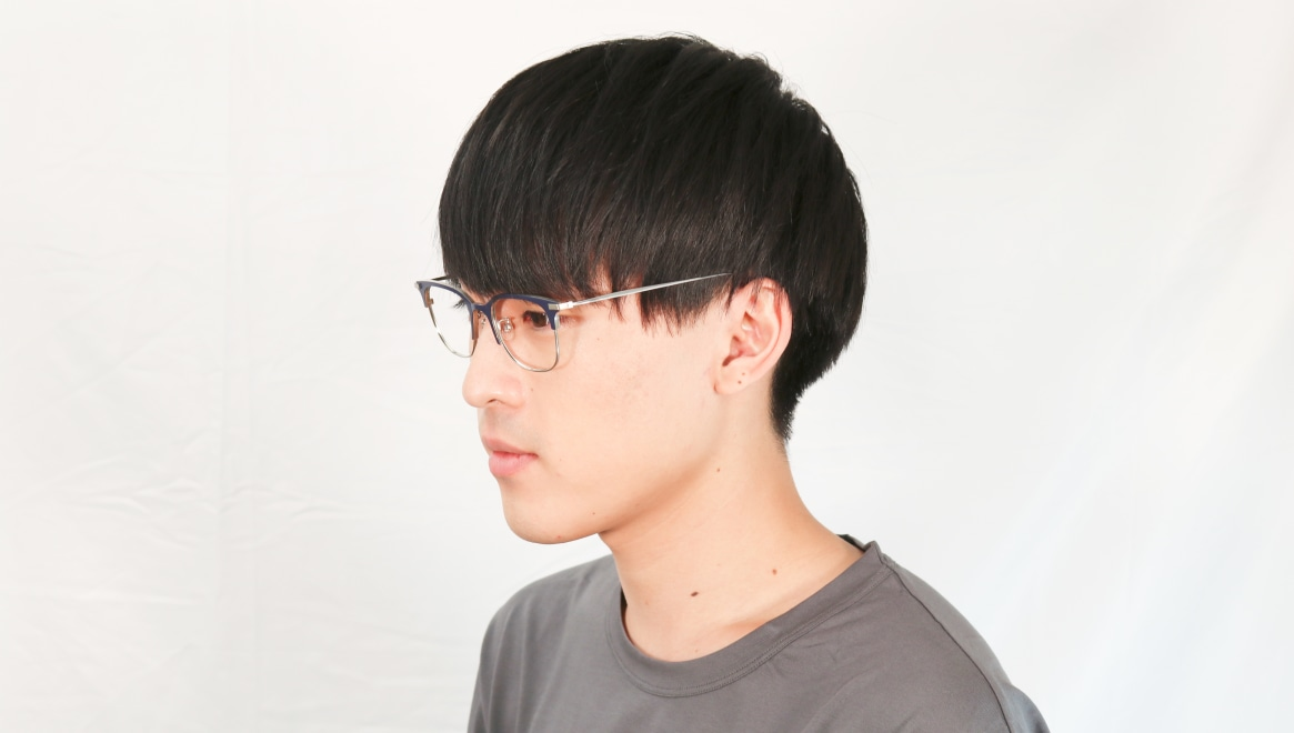 Oh My Glasses TOKYO Dave omg-125-NV-SV-50 [メタル/鯖江産/ウェリントン/青]  5