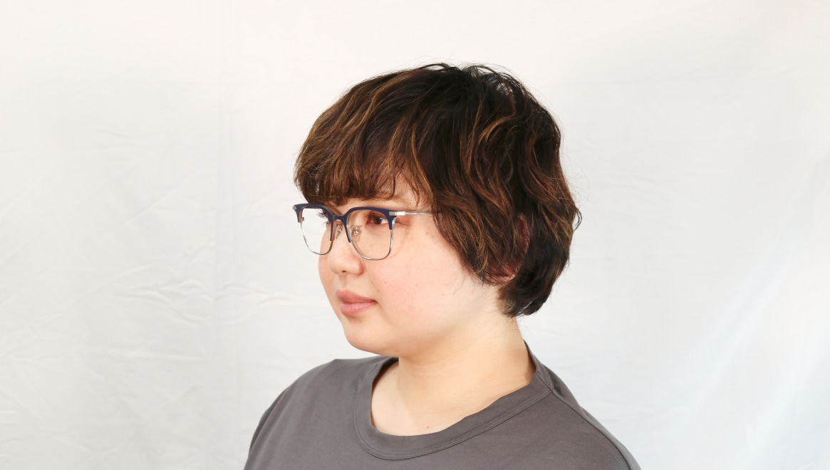 Oh My Glasses TOKYO Dave omg-125-NV-SV-50 [メタル/鯖江産/ウェリントン/青]  7