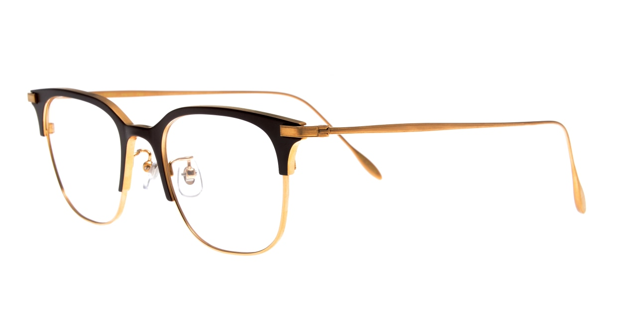 Oh My Glasses TOKYO Dave omg-125-BR-GD-50 [メタル/鯖江産/ウェリントン/茶色]  1