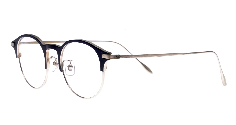 Oh My Glasses TOKYO Benny omg-126-NV-SV-47 [メタル/鯖江産/丸メガネ/青]  1