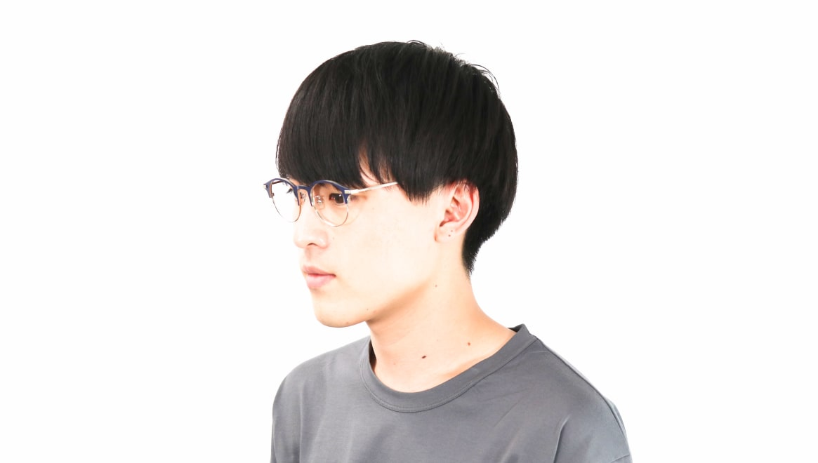 Oh My Glasses TOKYO Benny omg-126-NV-SV-47 [メタル/鯖江産/丸メガネ/青]  5