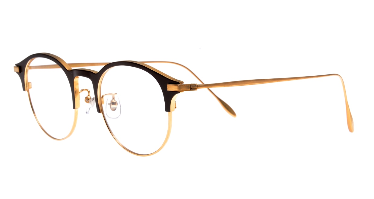 Oh My Glasses TOKYO Benny omg-126-BR-GD-47 [メタル/鯖江産/丸メガネ/茶色]  1
